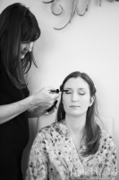 Bridal preparations at Elena and Tom's October wedding at the Coach House at Marks Hall Estate, Coggeshall, Essex. Photography by Jayne Heather.